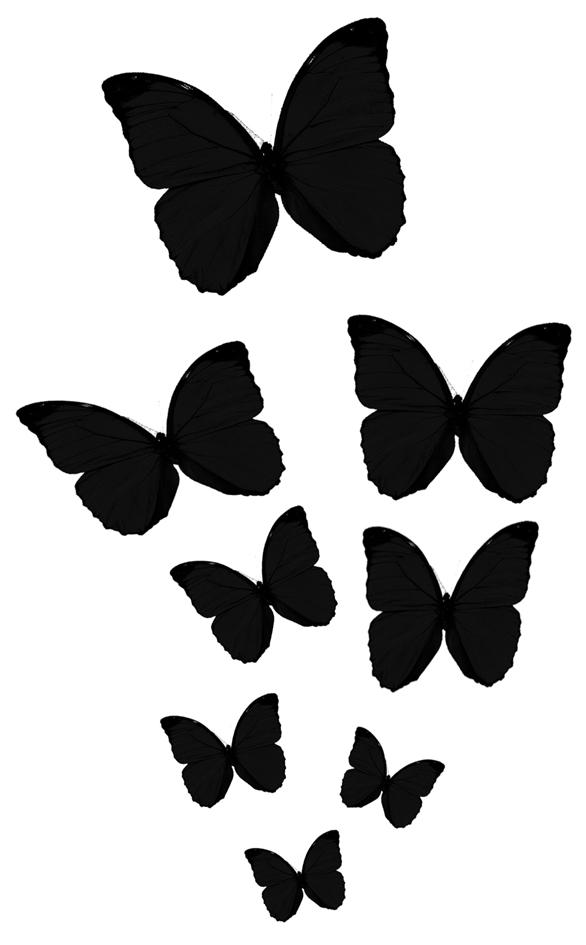 Butterfly silhouette tattoo images - Plantillas de mariposas ...
