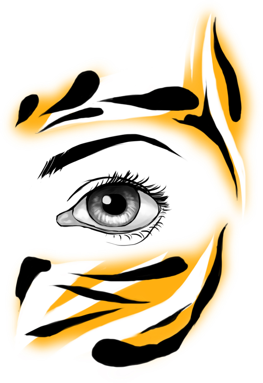 Tiger face paints