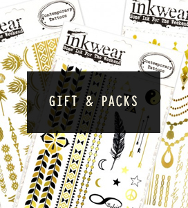 Gift packs of temporary tattoos