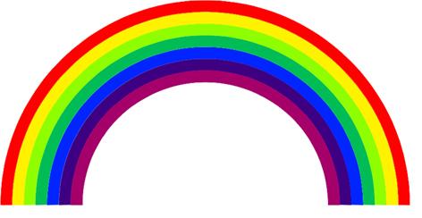 Rainbow fake tatts