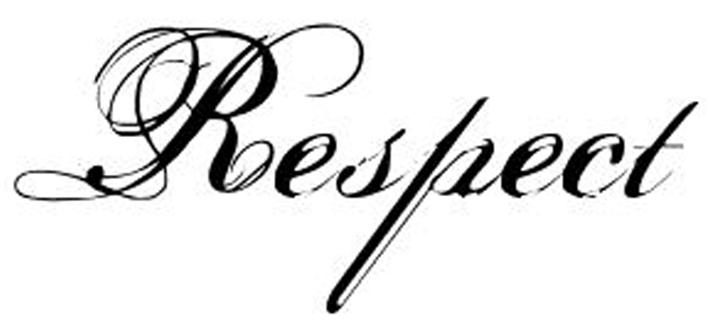 Respect transfer tattoo