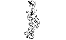 Animal Swirl Pattern Temporary Tattoo