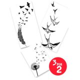 3 For 2! Flock Together Temporary Tattoo Set