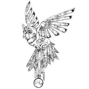 Clock Work Owl