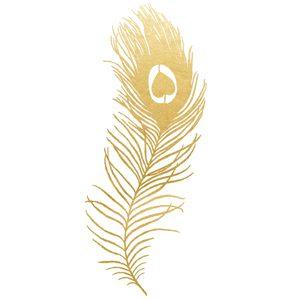 Golden Metallic Peacock Feather
