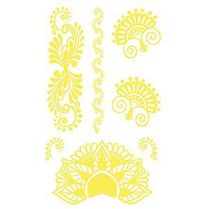 Golden Metallic Henna Mini Tattoo Set