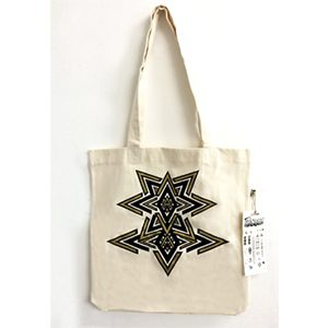 Gold Print Tote Shopping Bag With Matching Tattoos