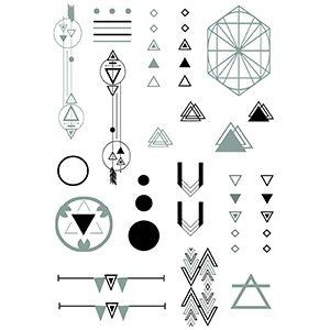 Geometric Electric! Silver foil Set