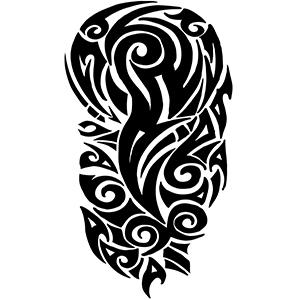 Full Tribal Shoulder Tattoo Sleeve