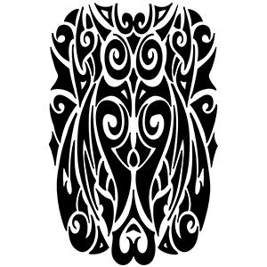 Full Tribal Arm Tattoo Sleeve
