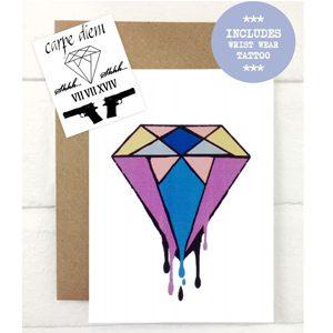 Diamond Temporary Tattoo Gift Card