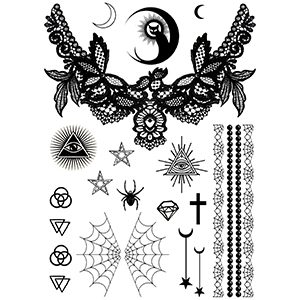 Deadly Diva Gothic Tattoo Set