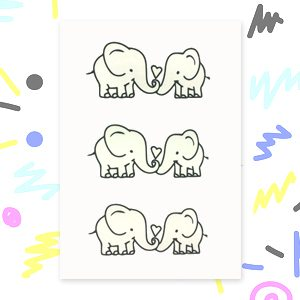 Baby Elephant Tattoos By Ickle Ink