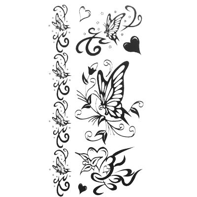 Butterfly Tribal Pattern Set