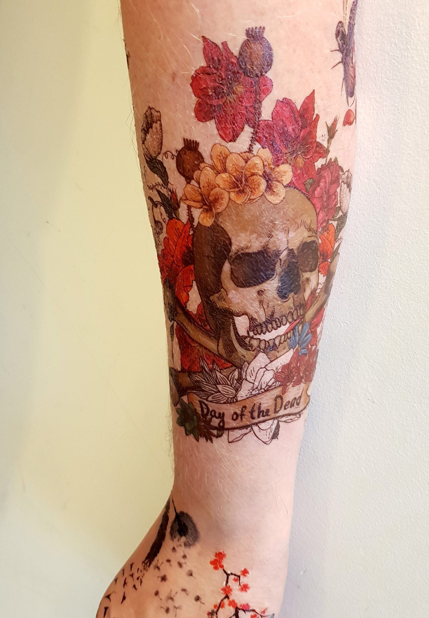 inkwear temporary tattoos archive day of the dead skull tattoo. Black Bedroom Furniture Sets. Home Design Ideas