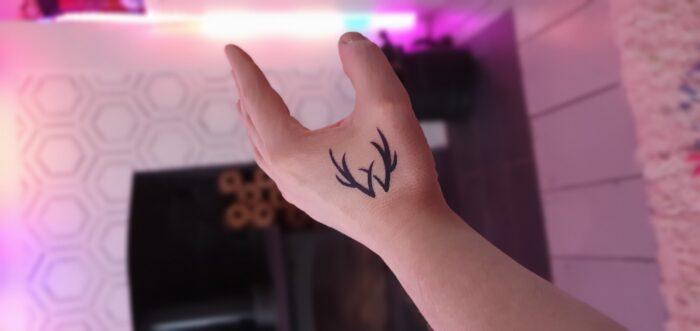 horns fake tattoo long lasting semi permanent