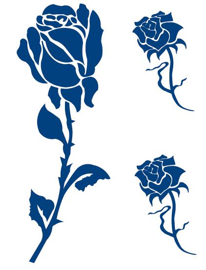 rose tattoo semi permanent