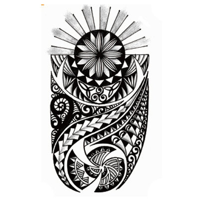 inkwear temporary tattoos archive rising sun maori style. Black Bedroom Furniture Sets. Home Design Ideas